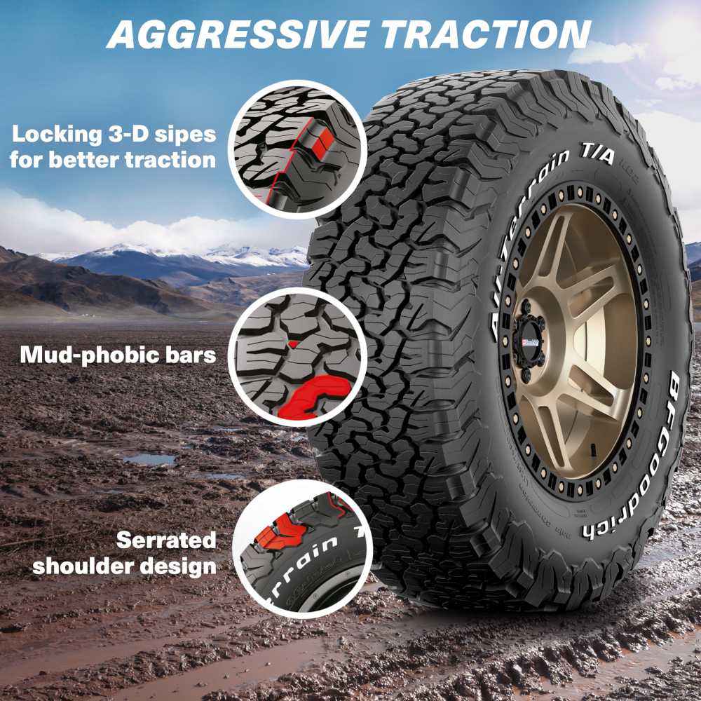 BF Goodrich Mud Phobic off road Tyres